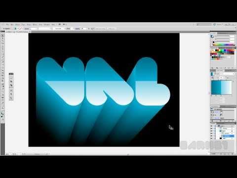 Tutorial Texto 3D Adobe Illustrator CS5 español. Full HD!!!
