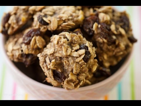 3 Ingredient Healthy Oat Cookies | Back to School Recipe | Simply Bakings