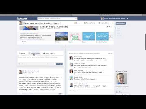 How to post a photo to facebook business page