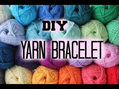 How to make a yarn bracelet | Hana safwat