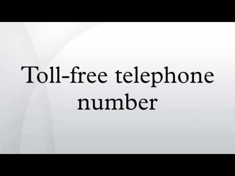 Toll-free telephone number