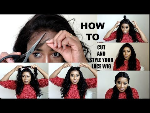 HOW TO STYLE LACE WIG AND CUT    WOWEBONY