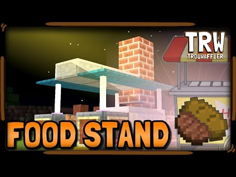 ▶How to Make a Food Stand 》Minecraft pe