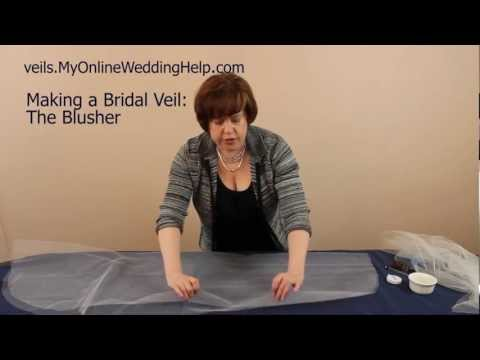 Creating the Blusher: Step 2 in Making a Bridal Veil Series