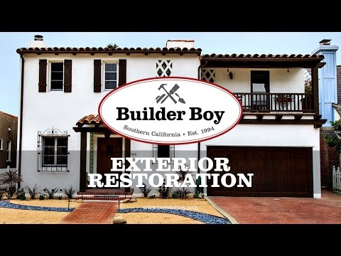 A 1930 Spanish Revival Home Exterior Restored - Watch Now!