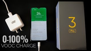 Realme 3 Pro 0 to 100% Vooc Fast Charging Test, Realme 3 Pro  Battery Charging Time, Vooc 3.0