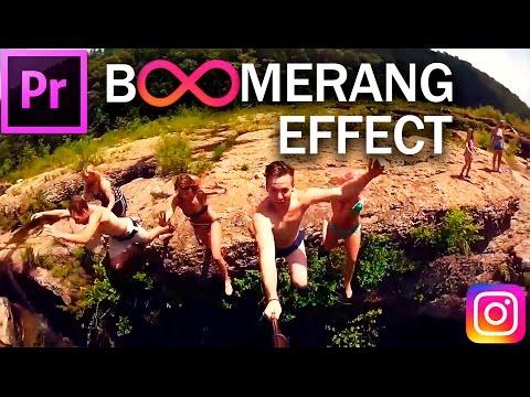 Cómo crear el efecto de video con estilo BOOMERANG en Premiere Pro (CC 2017 Tutorial) Muy facil
