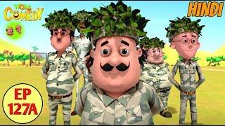 Motu Patlu   Commando Training   Cartoon in Hindi for Kids   Funny Cartoon Video