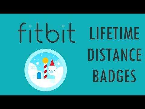 Fitbit Lifetime Distance Badges