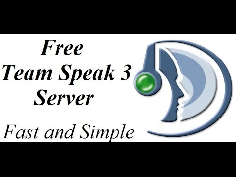 How to make a Team Speak 3 Server FAST and Free  -Online Hosted-