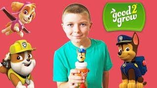 good2grow Unboxing and Taste Challenge with Ryan! Plus Nickelodeon Paw Patrol and TMNT