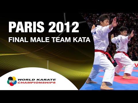 (1/2) Karate Japan vs Italy. Final Male Team Kata. WKF World Karate Champions 2012. 空手日本