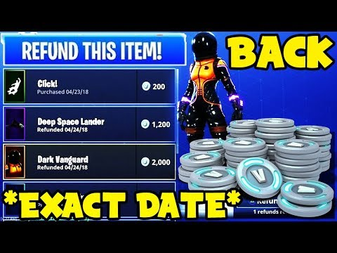 *NEW* Fortnite Season 4: REFUND SYSTEM OFFICIAL RELEASE DATE! (Epic Confirms Refund System)