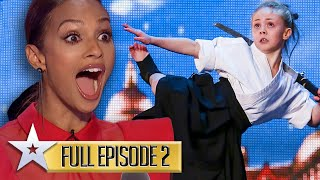 Kung fu fun and GOLDEN BUZZER grooves! | Britain's Got Talent | Series 9 | Episode 2 | FULL EPISODE