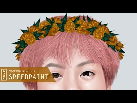 [ SPEEDPAINT ] BTS Flower Crown Series : Jin