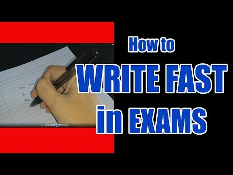 How to write fast with good handwriting in exams