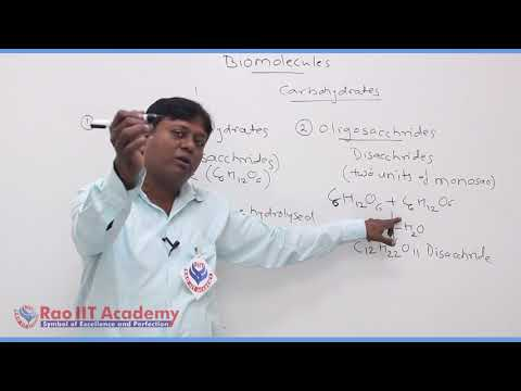 Biomolecules Chemistry Part-1 std 12th HSC Board Video Lecture BY Rao IIT Academy