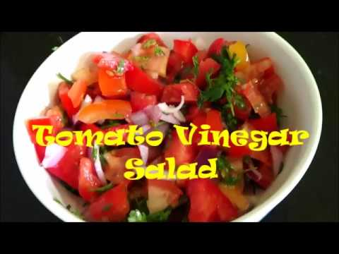 Tomato Vinegar Salad | Tomato Onion Salad Recipe