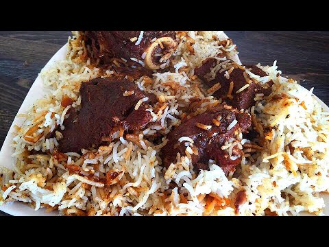 Pathani mutton Pulao - mutton  pulao recipe - how to make mutton pulao