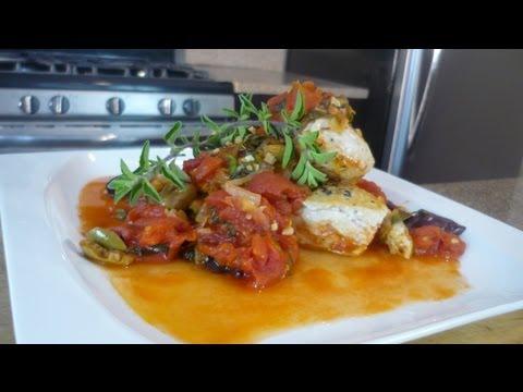 Mediterranean Style Chicken paired with Gabbiano Chianti