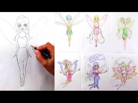 comic fee zeichnen elfe zeichnen lernen mit bleistift kinder zeichenkurs. Black Bedroom Furniture Sets. Home Design Ideas
