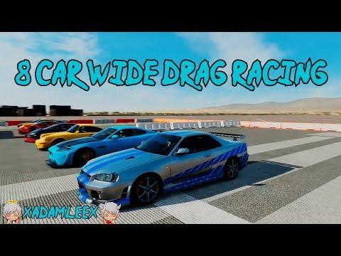 Forza Motorsport 5: 8 Car Wide Drag Racing (Nissan Skyline GT-R R34 V-Spec ll)