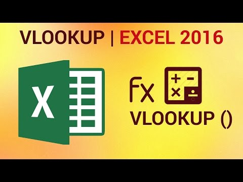How to use VLOOKUP in Excel 2016