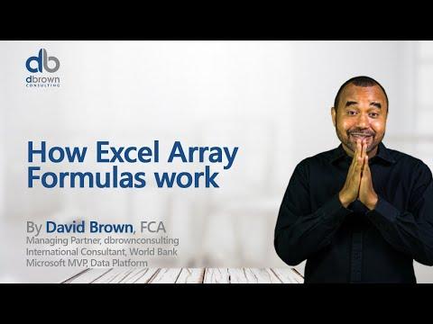 Excel tutorial: How Excel Array Formulas work