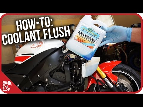 How-To: Motorcycle Coolant Flush (2009 Yamaha R6)