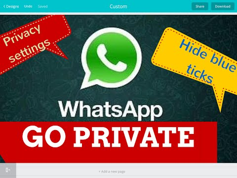 Stay invisible from everybody on WhatsApp or stay visible  only to your WhatsApp Contacts