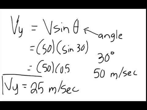 Finding the Initial Vertical Velocity of a Projectile