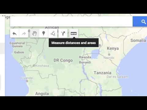 The Measurement Tool in Google My Maps
