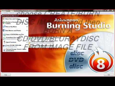 How to burn image file(.ISO,CUE/BIN) using ashampoo burning studio