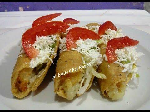 Tacos, TACOS DORADOS DE PAPA, Receta, #149
