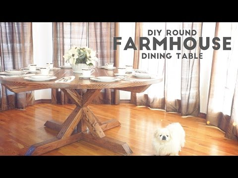 DIY Round Farmhouse Dining Table | Modern Builds | EP. 52