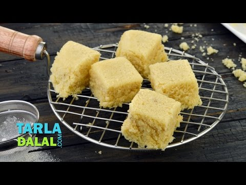Eggless Vanilla Sponge Cake in a Microwave/ Easy Basic Sponge Cake Recipe by Tarla Dalal