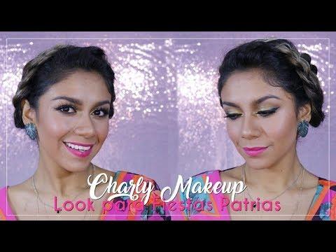 Look Fiestas Patrias | Makeup amarillo y dorado | 15 de Septiembre |Charly Makeup