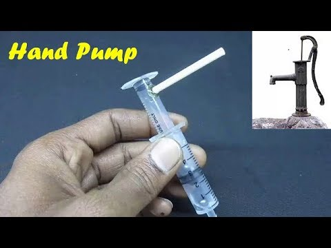 Water Pump - How to make a mini hand water pump using syringes