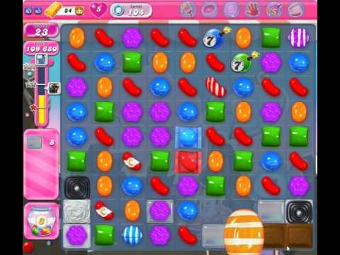 Candy Crush Saga Level 104 with no boosters!
