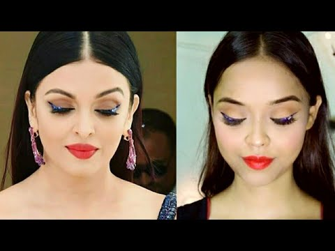 Aishwarya Rai Cannes Inspired Makeup look || Celebrity Inspired makeup look || Sayantani Some