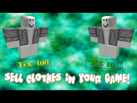 Roblox How To Sell Clothes In Games