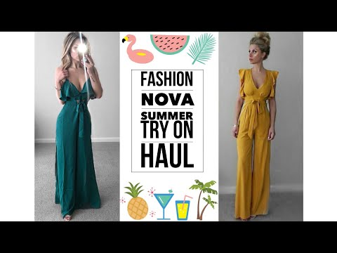 FASHION NOVA summer 2018  try on haul 2018 | Taylor Bee