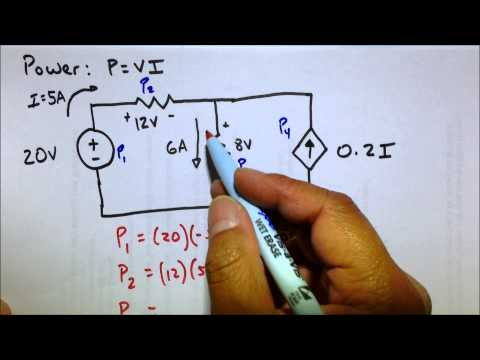 Circuit Power Dissipated & Supplied Analysis Practice Problem