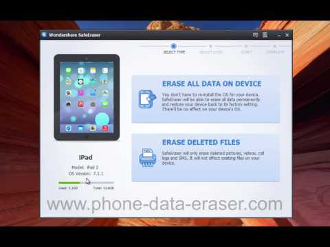 How to Erase All iPad Data Permanently in Just One Click by SafeEraser?
