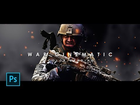 How to Create War Cinematic / Action Movie Color Grading in Photoshop - Photoshop Tutorials