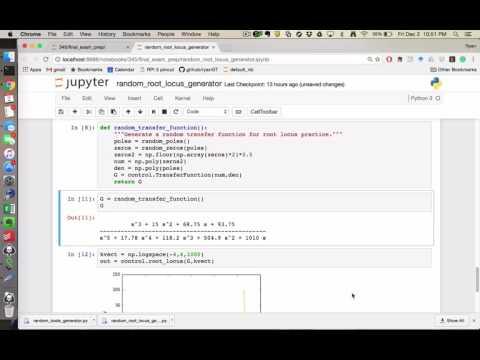 Root Locus Random Practice Problem Generator