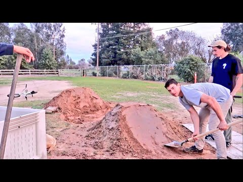 BUILDING SECRET DIRT JUMPS!  Part 1.