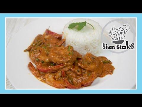 Prawns Stir Fried In Red Curry Paste (Goong Pad Prik Nom Sod)
