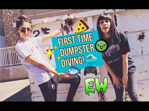 FIRST TIME DUMPSTER DIVING