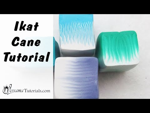 How to Make Polymer Clay Ikat Canes (Credit to Donna Kato)